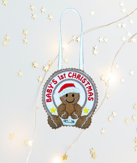 Baby's 1st Christmas Gingerbread Decoration