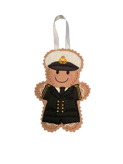 Naval Officer Gingerbread Decoration