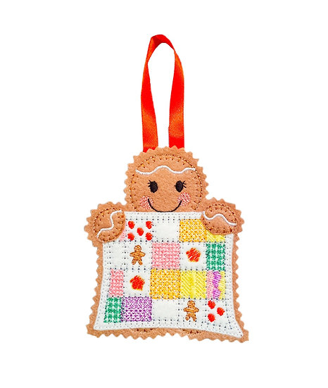 Quilter Gingerbread Decoration