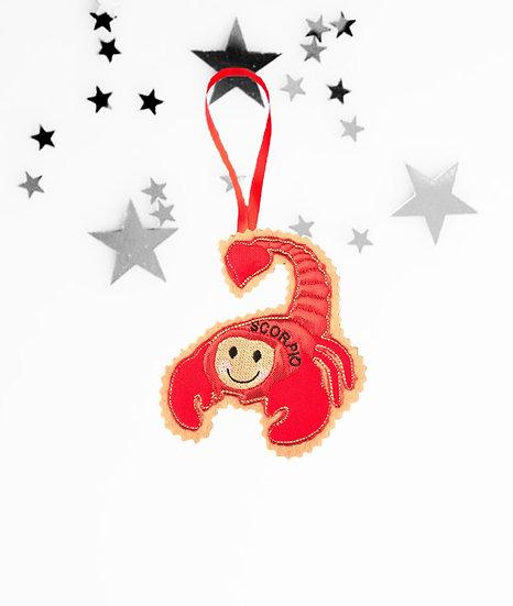 Scorpio Starsign Gingerbread Decoration