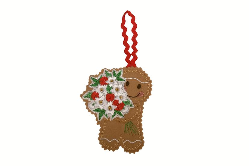 Flower Bouqet Gingerbread Decoration