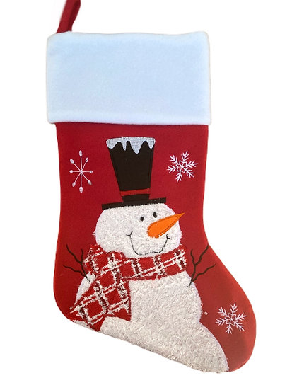 Snowman Personalised Christmas Stocking