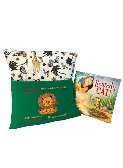 Lion Zoo Themed Book Cushion