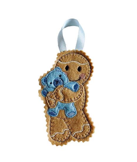 Baby Boy Teddy Gingerbread Decoration