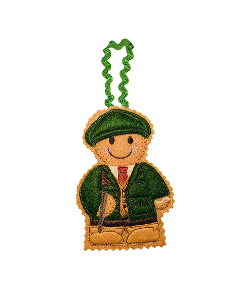 Game Keeper Gingerbread Decoration