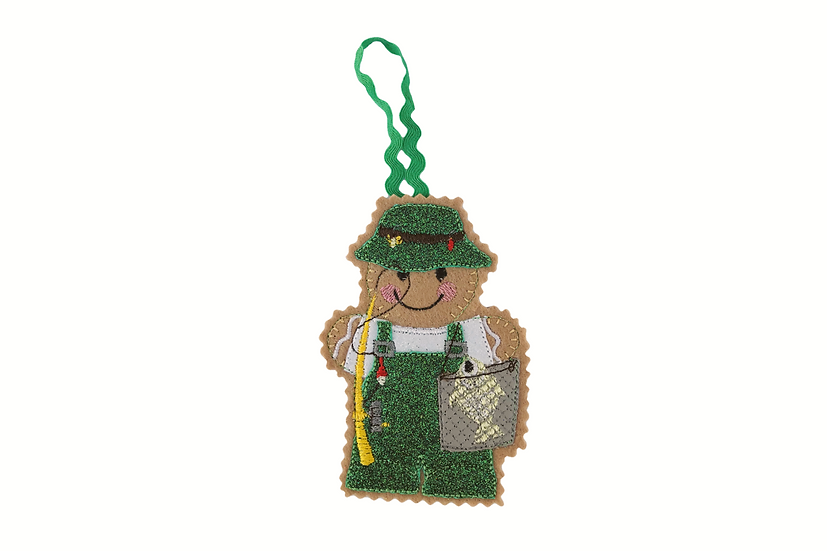 Fisherman Gingerbread Decoration