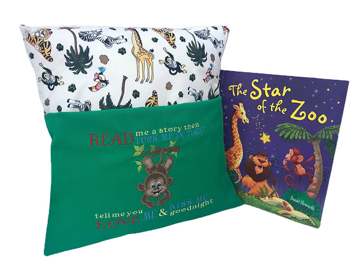 Monkey Themed Book Cushion