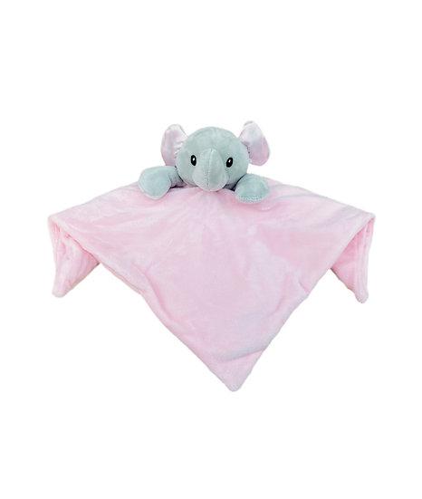 Pink Elephant Comforter / Personalised Keepsake / Newborn Baby Gift