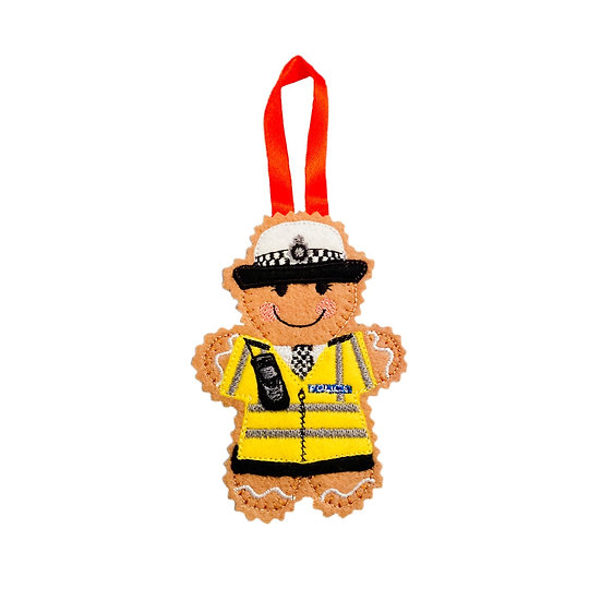 Traffic Police Officer Gingerbread Decoration