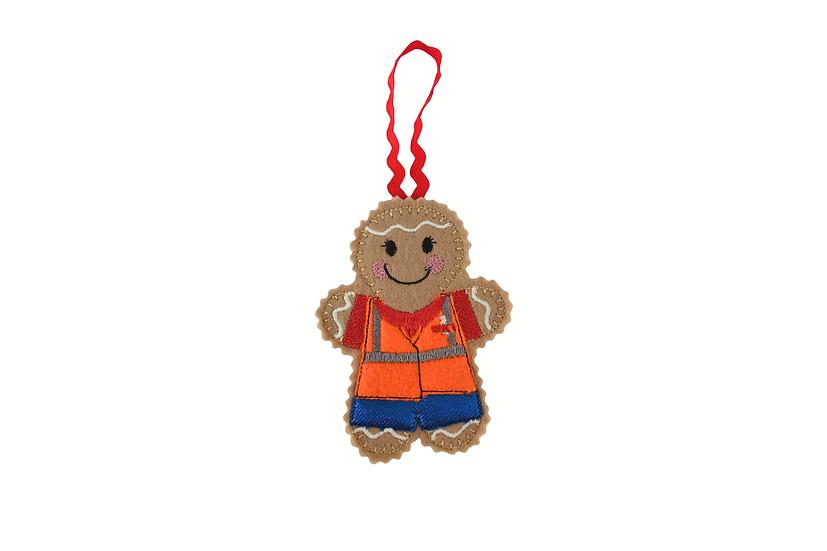 Postie Gingerbread Decoration