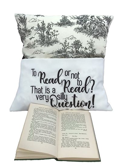 Vintage Shakespeare Themed Quote Book Cushion