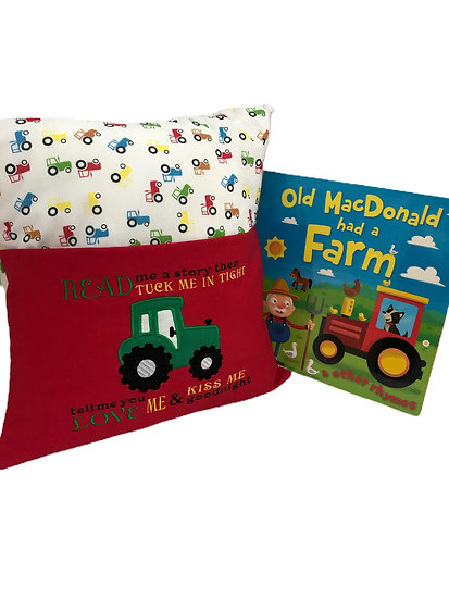 Tractor Themed Book Cushion