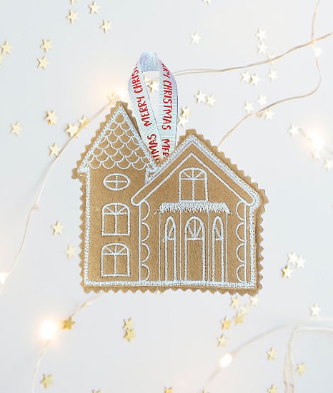 Gingerbread Church Christmas Tree  Decoration