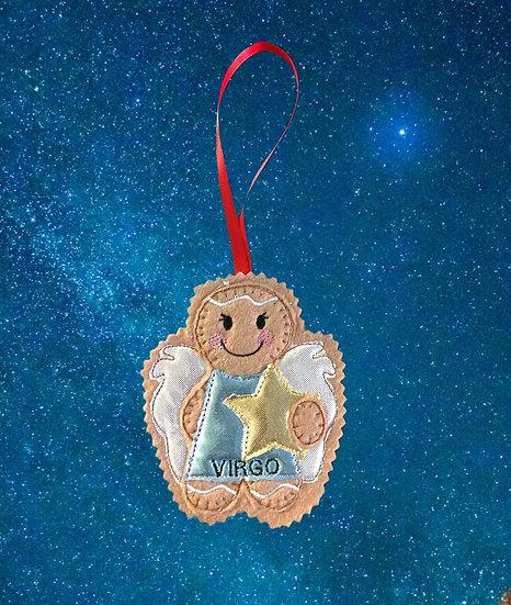 Virgo Starsign Gingerbread Decoration