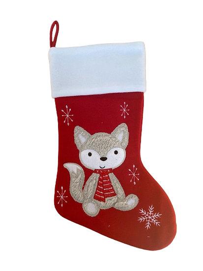 Fox Personalised Christmas Stocking