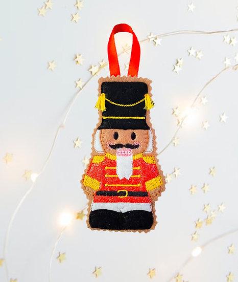Gingerbread Nutcracker Decoration