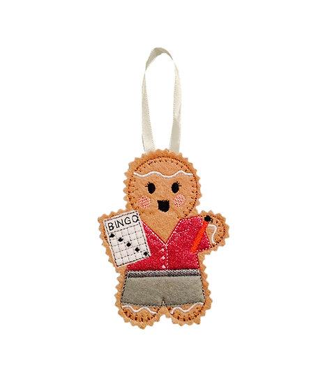 Bingo Player Gingerbread Decoration
