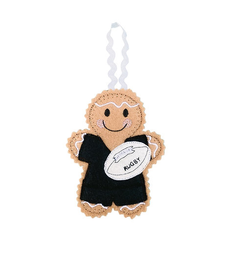 Rugby Player / Fan Gingerbread Decoration
