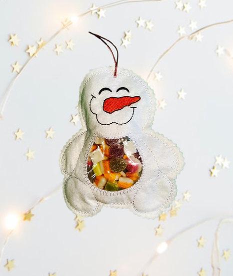 Christmas Snowman Treat Bag