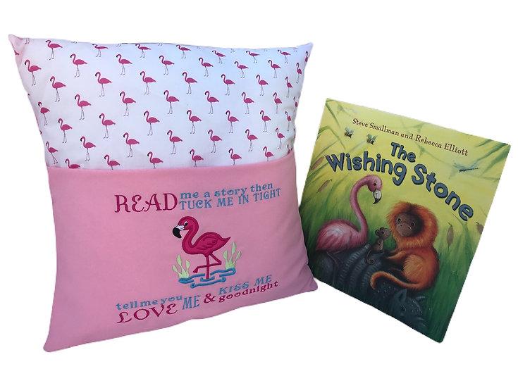 Flamingo Themed Book Cushion