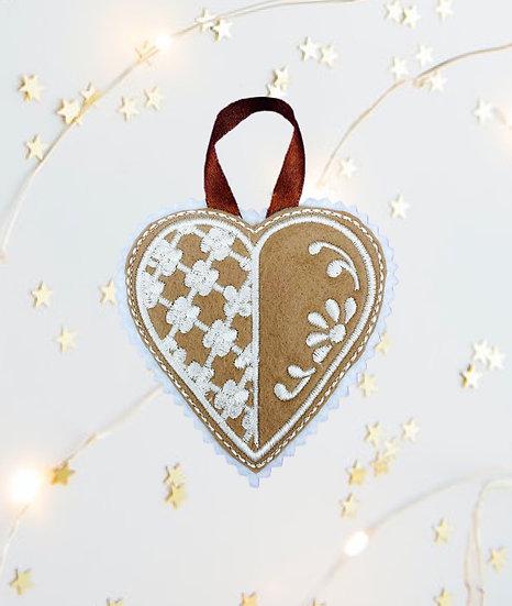 Cookie Heart Felt Christmas Tree Decoration