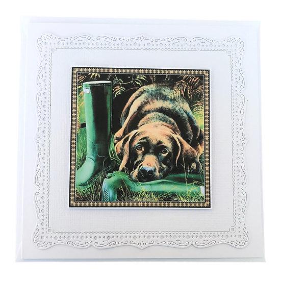 Chocolate Labrador Gift Card