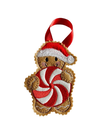 Christmas Pinwheel Gingerbread Decoration