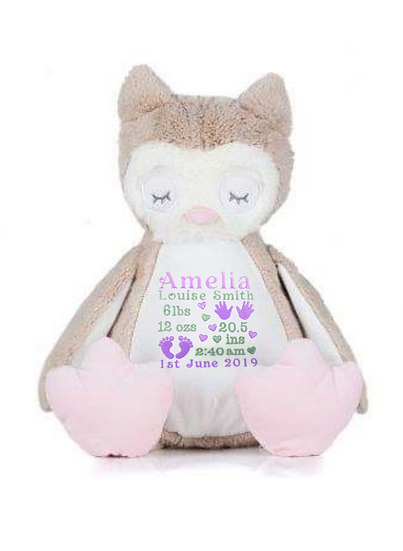 Owl Personalised Soft Toy