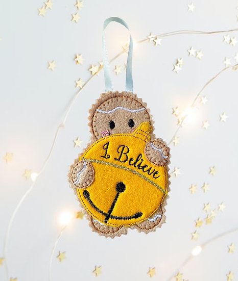 Christmas Bell Gingerbread  Decoration
