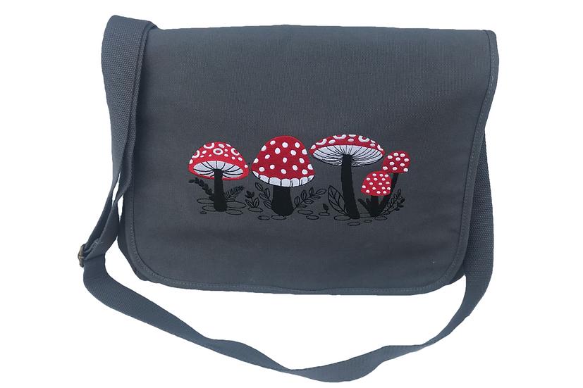 Toadstool Cotton Canvas Messenger Bag