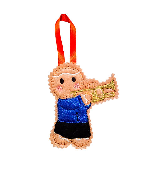 Trumpet Player Gingerbread Decoration
