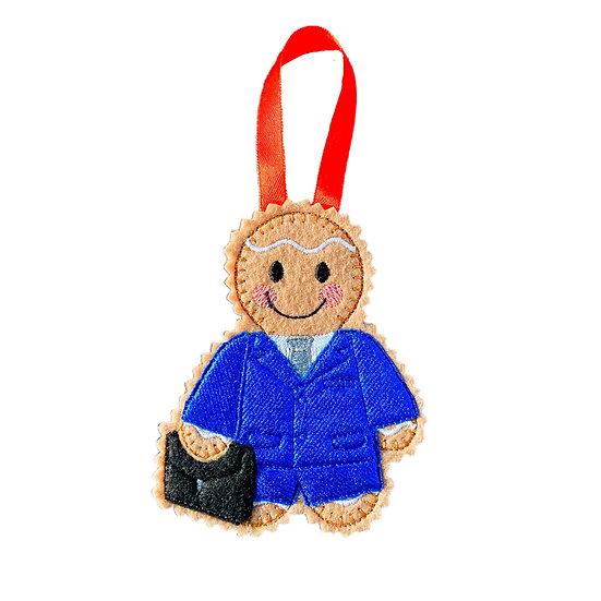 Businessman Gingerbread Decoration
