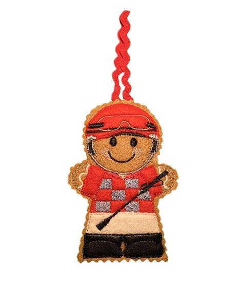 Jockey Gingerbread Decoration