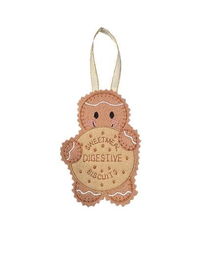 Digestive Biscuit Gingerbread Decoration