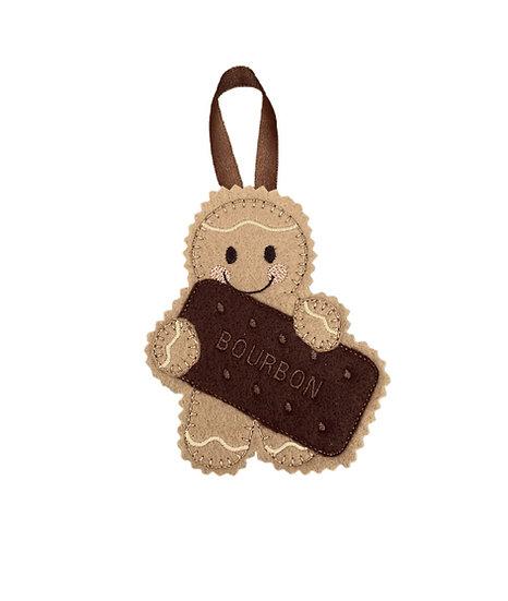 Bourbon Biscuit Gingerbread Man Decoration