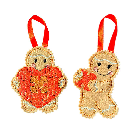 Piece of my Heart Pair Gingerbread Men Decoration
