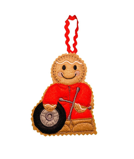 Tyre Fitter Gingerbread Decoration