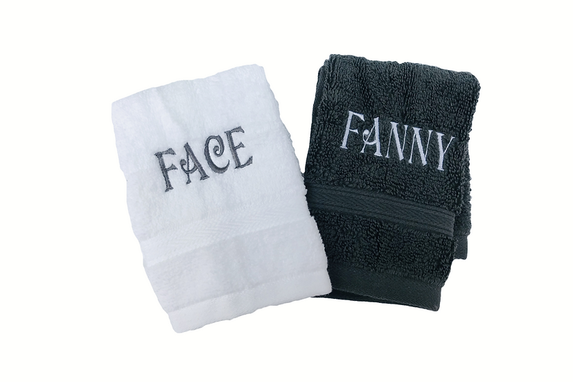 Novelty Face Cloths / Flannels embroidered naughty rude stocking filler hen do