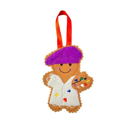 Artist / Painter Gingerbread Decoration