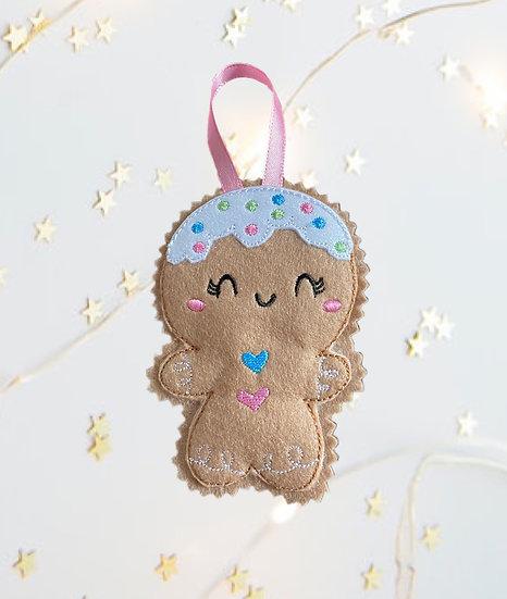 Christmas Kawaii Gingerbread Girl Decoration
