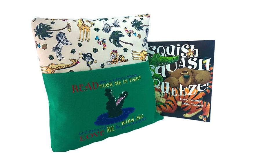 Alligator Crocodile Themed Book Cushion