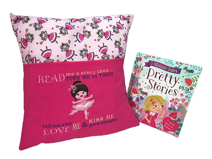 Ballerina Themed Book Cushion