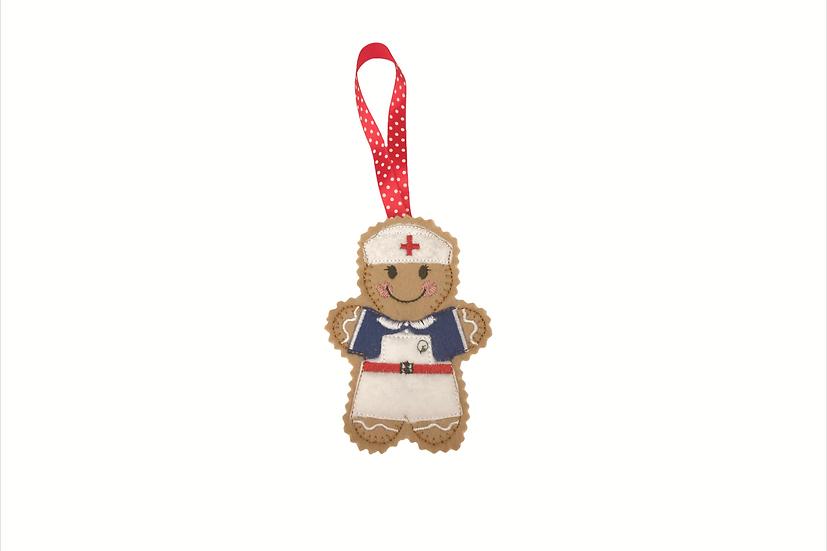 Nurse Gingerbread Decoration