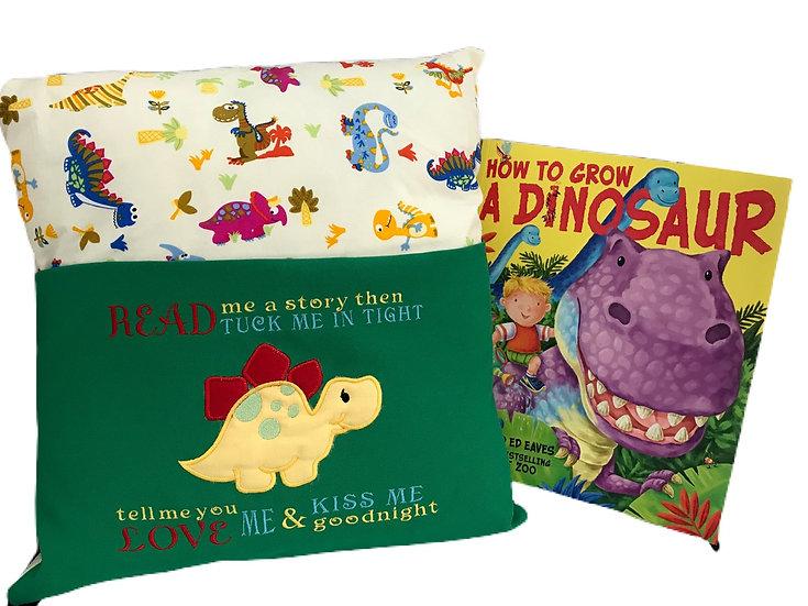 Stegosaurus Dinosaur Themed Book Cushion