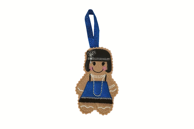 1920's Flapper Girl Gingerbread Decoration