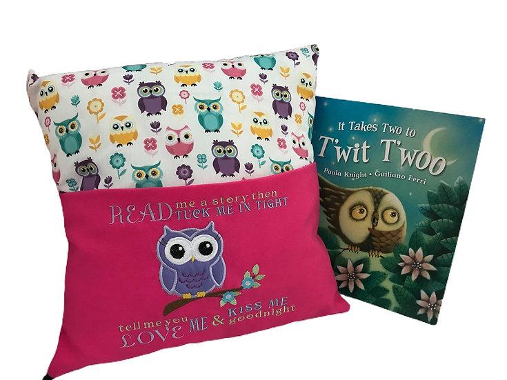 Owl Themed Book Cushion