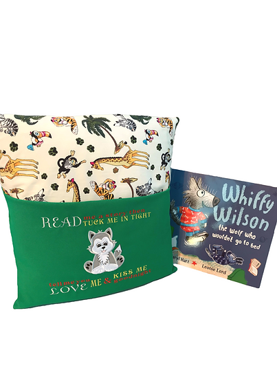 Wolf Zoo Themed Book Cushion