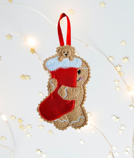 Gingerbread Man Stocking Decoration