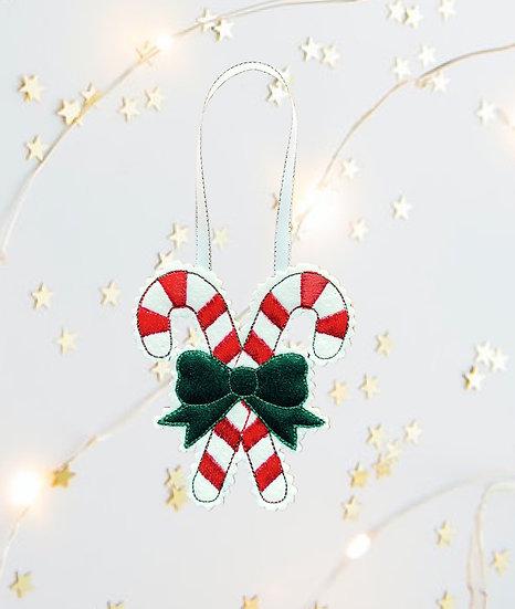 Candy Canes Felt  Christmas Decoration