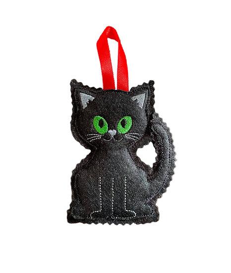 Black Cat Felt Decoration